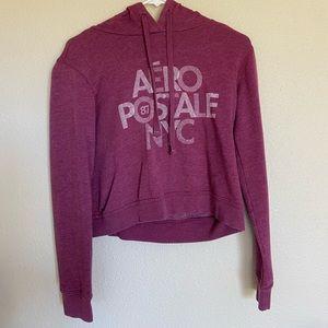 Aeropostale | purple cropped sweatshirt